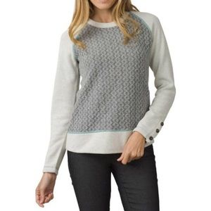 Prana Aya Wool Blend Cable Knit Sweater